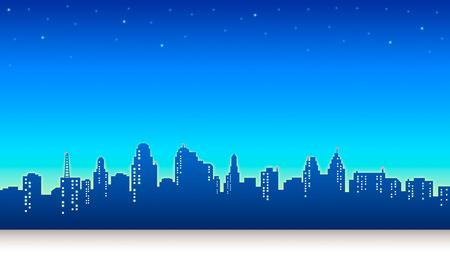 city background: Night City Sky Background