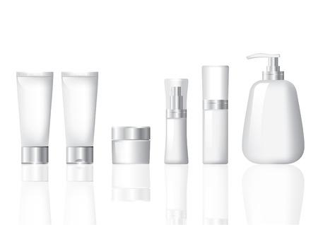beaut� esthetique: Cosmetic Forfait Maquette Siver et blanc jeu Illustration
