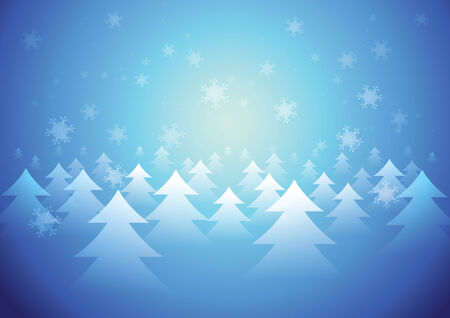 Winter background with Snowflake