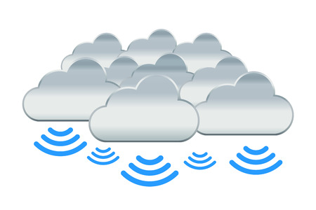 Cloud Contact with Many Information in Everywhere 向量圖像