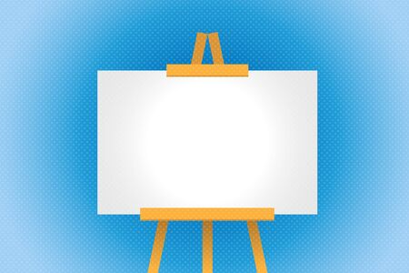 Art Stand with blank canvas