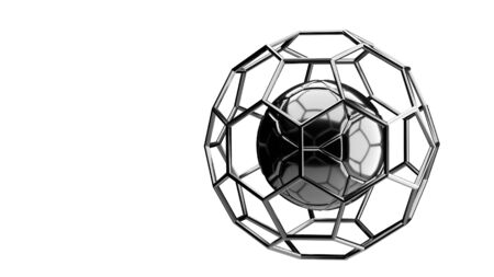 chrome background: Football chrome structure broadcast background 3d rendering Stock Photo