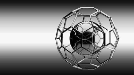 chrome: Football chrome structure broadcast background 3d rendering Stock Photo