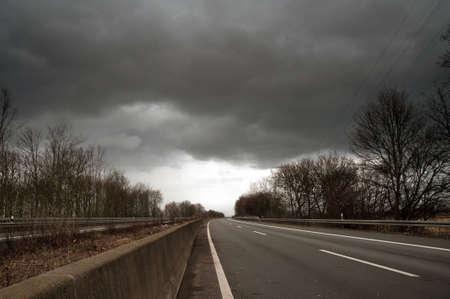closed motorway A57