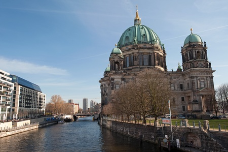 Berlin Museum Island - The Spree at Berlin Cathedral Stock Photo - 12977067