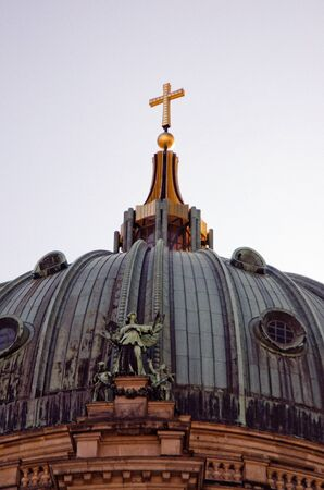double cross: Berlin Berlin Cathedral dome with double cross