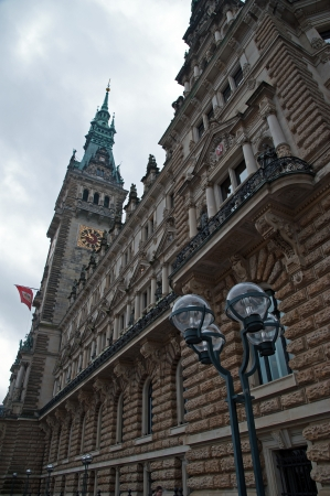 The Hamburg City Hall, towers and roof photo