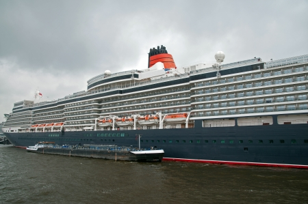Cruise ship in the port of Hamburg in 2012