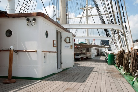 Port of Hamburg 2012 - On the deck of a tall ship photo