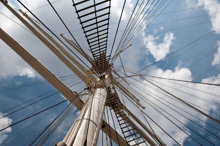 Port of Hamburg 2012 - main mast of a sailing ship