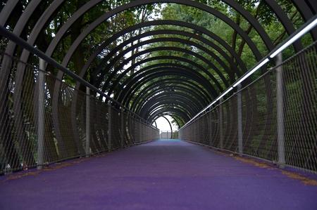 slinky: Structures - Slinky Bridge in Oberhausen spans the Rhine-Herne Canal at the lock Oberhausen Editorial