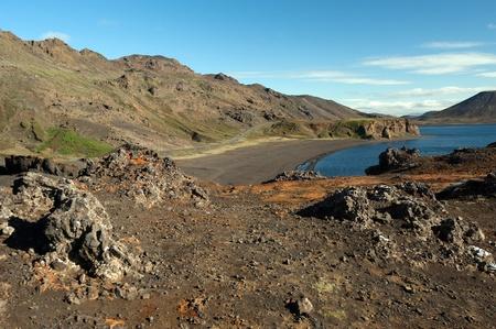 The Southwest Islands, south of Reykjavik, near lake Kleivarvatn towards  Blue Lagoon  Stock Photo