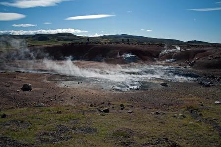 The southwest of Iceland, Reykjanes peninsula south of Reykjavik, Solfatare of Krisuvik