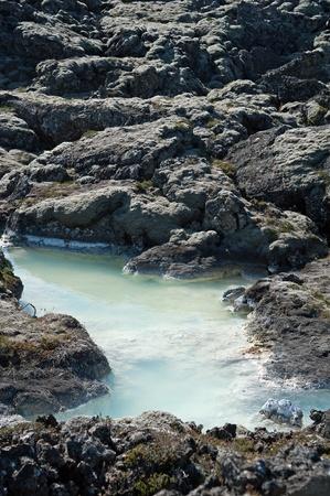 The southwest of Iceland, Reykjanes peninsula south of Reykjavik, at theBlue Lagoon Stock Photo