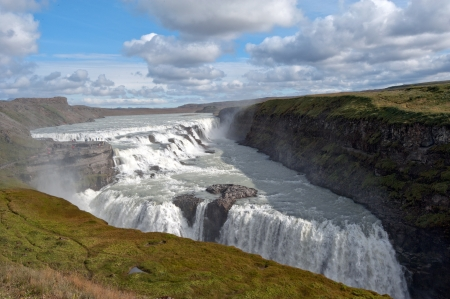 The southwest of Iceland, The  Golden Waterfall  Gullfoss in the  Golden Circle  photo