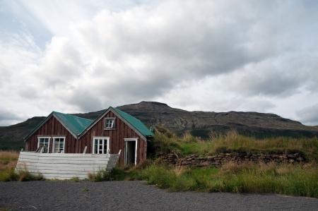 onbewoond: De zuidelijke IJsland, oud onbewoond Hofruine Geysir gebied, Hakadalur, in de Golden Circle