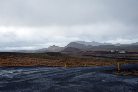 The North of Iceland, setting the Krafla volcano system at Lake Myvatn, on the drive to pass Namaskard