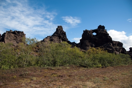The north-eastern Iceland, look at the Lava Maze Dimmuborgum at Lake Myvatn in Reykjahlíð photo