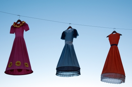 The North of Iceland suspended, clothes in Akureyri