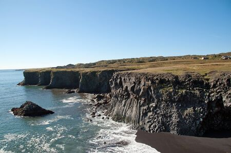 The west of Iceland, the cliffs of Arnastapi on the south side of the peninsula Sneifellsnes