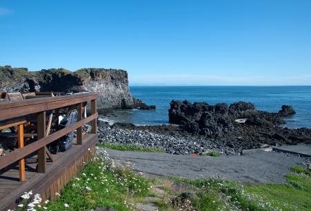 The West Island, overlooking the lava beach near Arnastapi, at the western end of the Sneifellsnes