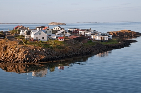 The West Island, overlooking the Breidafj�rdur of Stykkisholmur out, in the north of the peninsula Snaefellsnes  Stock Photo