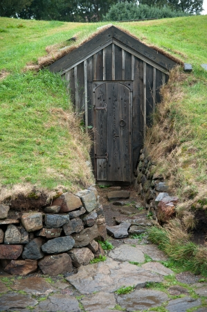 pitched roof: The north west of Iceland, at the hot spot of Snorri Sturluson, an Icelandic writer and scholar