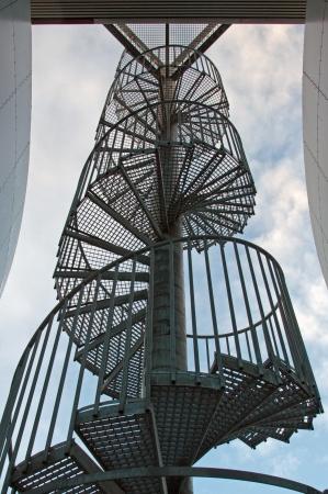 Perlan, spiral staircase at the water tank from Reykjavik