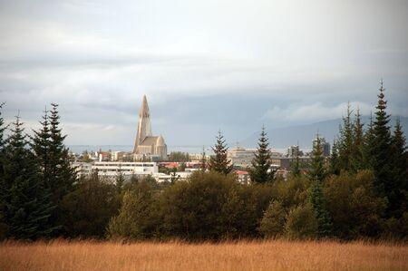 Perlan, Reykjavik look at the focus of the Hallgrimskirkja