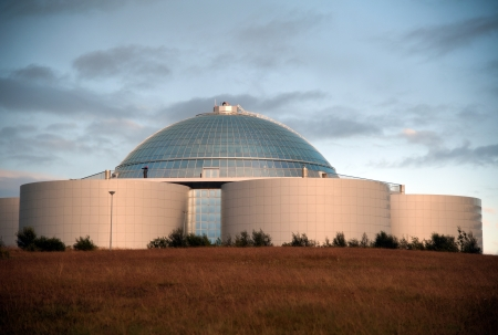 Perlan, a view of the water tank from Reykjavik