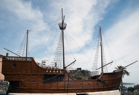 La Palma Santa Cruz, museum ship, replica of the Santa Maria of Christopher Columbus