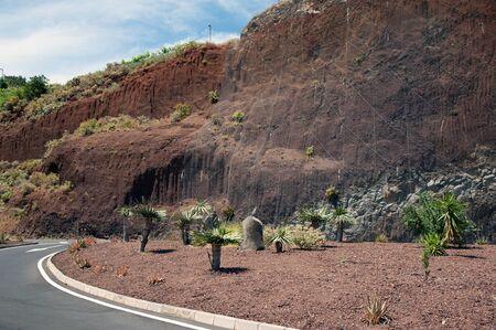 La Palma in 2013 - driveway to the Mirador de las Hesperides Gardens on the West Coast