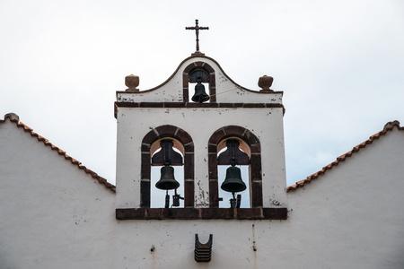 sante: church portal in Santo Domingo de Garafia in the north of La Palma