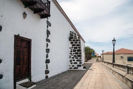 sante: Village square in Santo Domingo de Garafia in the north of La Palma