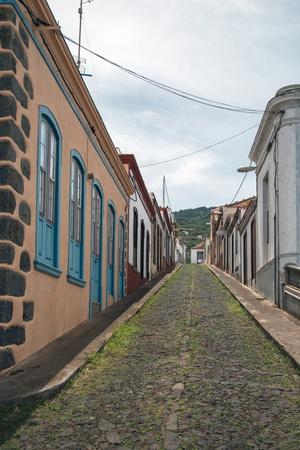 Street in Santo Domingo de Garafia in the north of La Pa