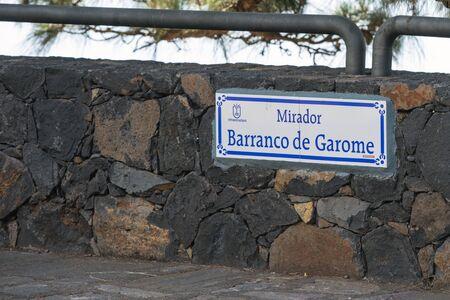 La Palma 2013 - Mirador de Barranco Garome at El Roque in Punta Gorda Stock Photo