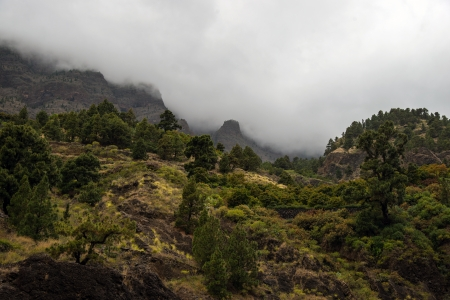 Barranco de Las Angustias, at the base of Caldera de Taburiente photo