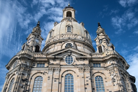 Dresden, Frauenkirche, view of the dome from the Neumarkt