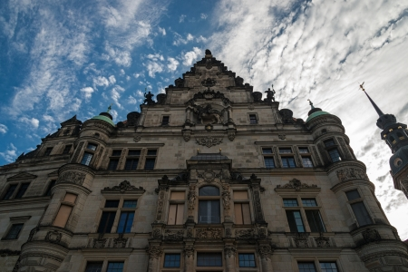 Dresden, facade of George gate Stock Photo