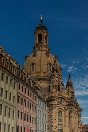 Dresden, the Frauenkirche and the Neumarkt houses
