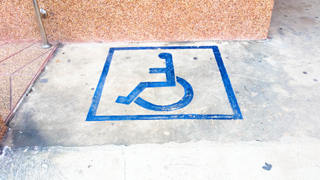 disabled parking sign: Disabled parking sign Stock Photo
