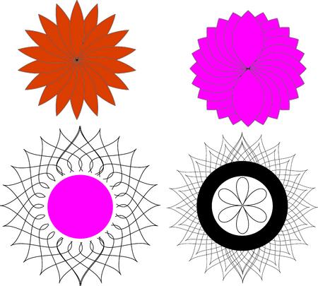 flower art: art vettore fiore