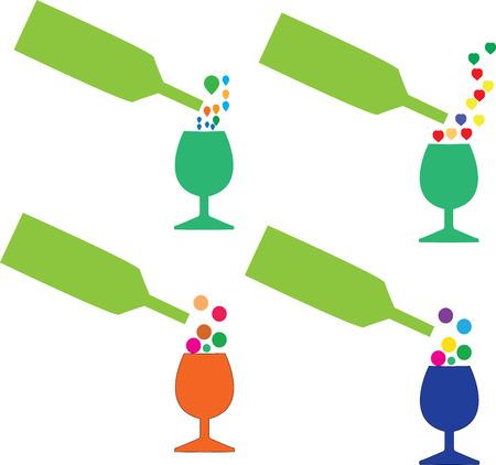 indulgence: Cocktail, dring, vector illustration for you design Illustration
