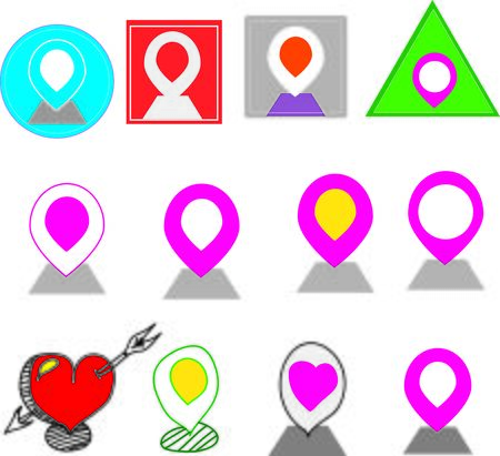 api: set icon map api and Map and Location Icons