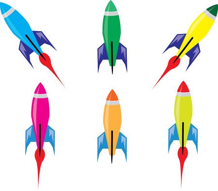 booster: Retro Rocket Spaceship Illustration