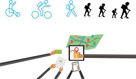 take: take adventure, map for people travel