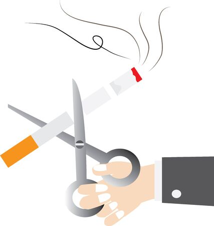 quit smoking: Quit smoking. Broken cigarette isolated on white background