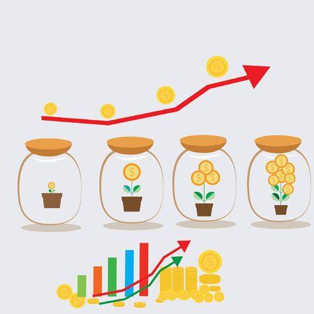 save money: save money concept Illustration