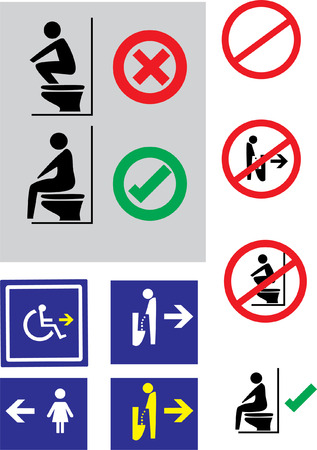 toilet sign: toilet sign, toilet travelers