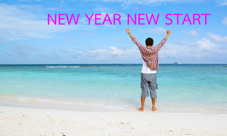 NEW YEAR NEW START motivational message, inspirational quotes for the New YEAR
